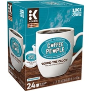 Coffee People® Round The Clock Coffee, Keurig® K-Cup® Pods, Medium Roast, 24/Box (5000202777)