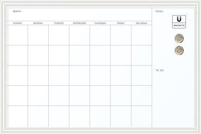 U Brands Magnetic Dry Erase Calendar Board 20 X 30 White Wood