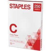 "Staples Copy paper, 8 1/2"" x 11"", 250/Ream"