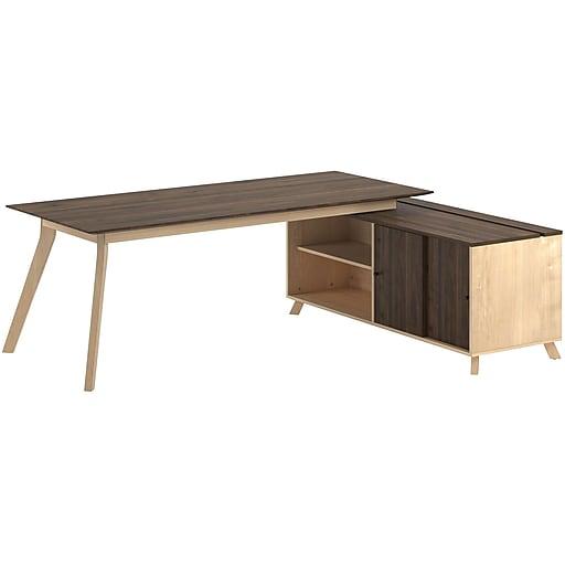 Strange Ameriwood Ax1 L Shape Desk Walnut 9291096Com Download Free Architecture Designs Licukmadebymaigaardcom