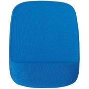 Staples Memory Foam Mouse Pad Wrist Rest, Blue