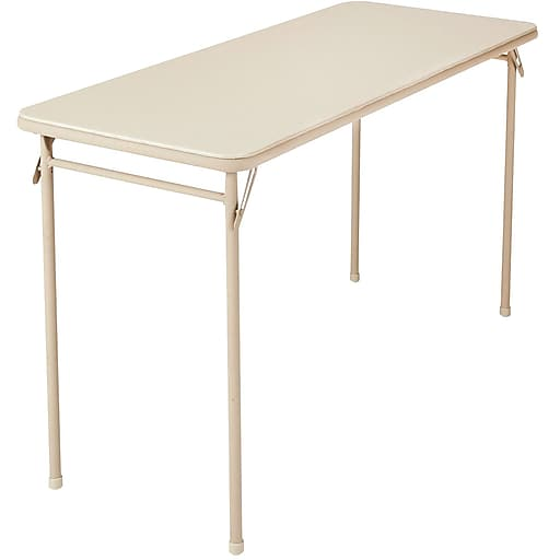 Cosco 14341ant1e 20 X 48 Plastic Steel Folding Table Antique White Staples