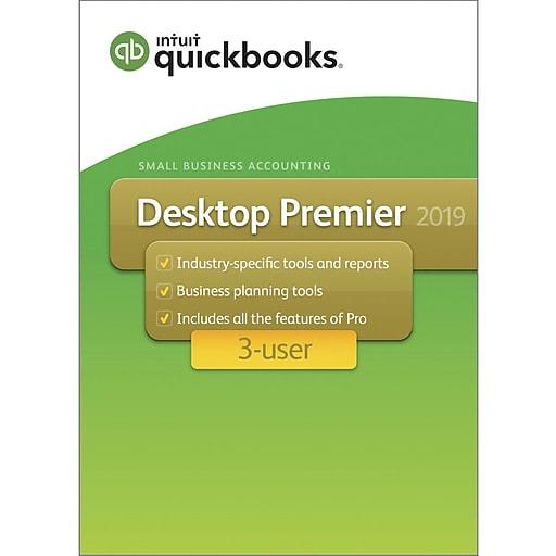 QuickBooks Desktop Premier 2019, 3 Users, Windows, 1 Year, Download  (L39578C7RSL9ECA)