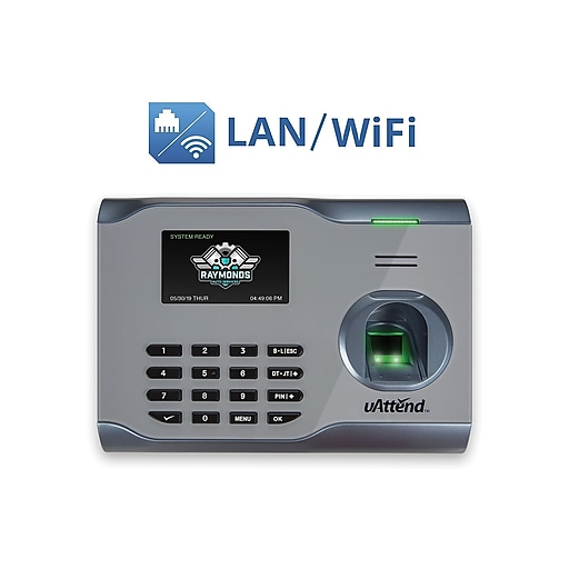 uAttend Cloud-Connected Fingerprint Time Clock (BN6400)