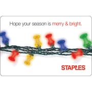 Staples Holiday Push Pin eGift Card