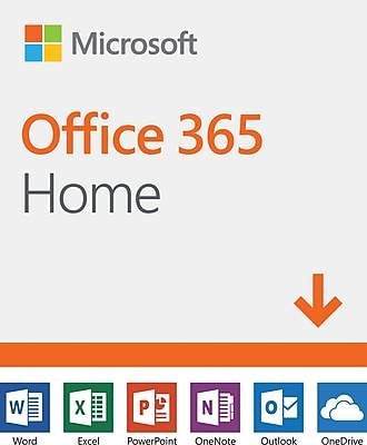Microsoft Office 365 Home, 1-Year Subscription, 1-5 Users, PC/Mac [Download]