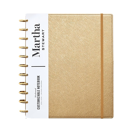 Martha Stewart Gold Faux Leather Letter Discbound Notebook (MS102J)