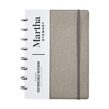Martha Stewart Linen Junior Discbound Notebook (MS102E)