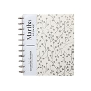 Martha Stewart Cream Vine Poly Letter Discbound Notebook, Letter Sized (MS102L)