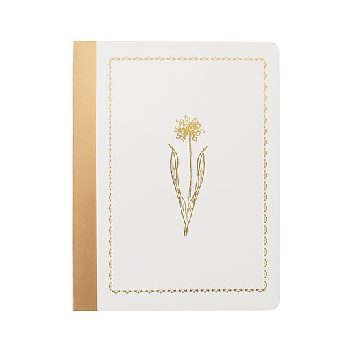 Martha Stewart Cream Flower Comp Book (MS101W)