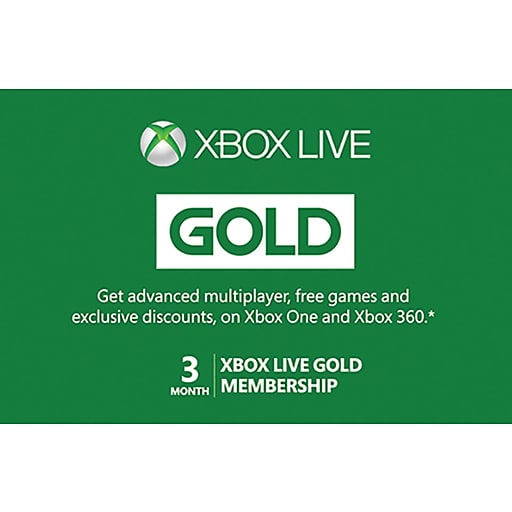 Xbox 3 Month Subscription Gift Card, $24.99 (Email Delivery)