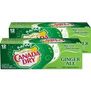 Canada Dry Ginger Ale Soda, 12 oz., 24/Carton (00078000152166)