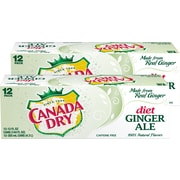 Canada Dry Diet Ginger Ale Soda, 12 oz., 24/Carton (00078000148169)