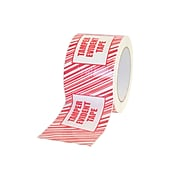 """2"""" x 110 Yards Tamper Evident Tape with Security Stripe, 6/Pack (155RCP-TAMPER-2)"""