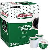 Krispy Kreme Classic Decaf Coffee, Keurig K-Cup Pods, Medium Roast, 24/Box (06111)