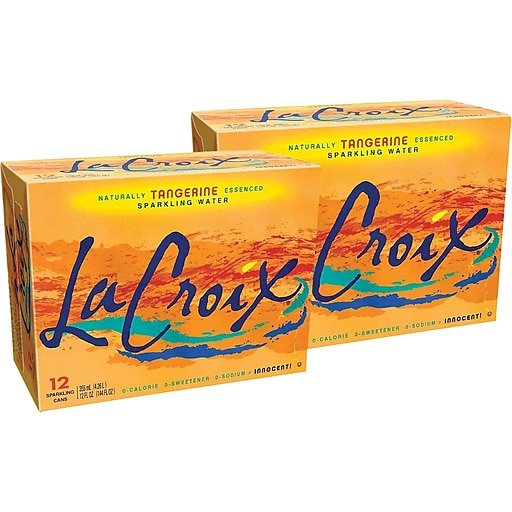 LaCroix Tangerine Sparkling Water, 12 oz., 24/Carton (40106)