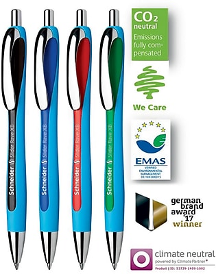 Schneider Slider Rave XB Retractable Ballpoint Pen, Blue Ink, Bundle of 5 Pens (STW132503)
