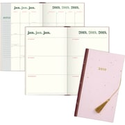 """2019 Emily + Meritt Weekly/Monthly Planner, Perfect Bound, 12 Months, January Start, 4 3/4"""" x 8 3/8"""", Pink (EM101-203-19)"""