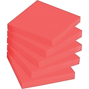 """Post-it® Super Sticky Notes, 3"""" x 3"""", Red, 90 Sheets/Pad, 5 Pads/Pack (654-5SSRR)"""