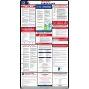 ComplianceSigns® 2019 Indiana Labor Law Poster. (with Blue header)