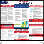 ComplianceSigns® 2019 Federal Labor Law Poster (with White Header)