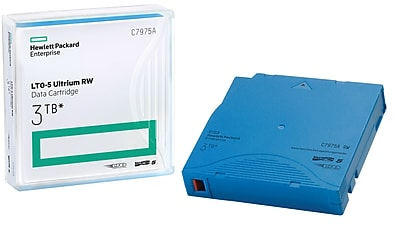 HPE® LTO-5 Ultrium Non-Custom Labelled Data Cartridge, 3TB, 20/Pack (C7975W)