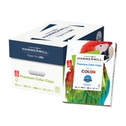 "Hammermill® Premium Color Copy Paper, 28lb,  8.5"" x 11"", 3 Hole, 100 Bright, White, 4000/Case"