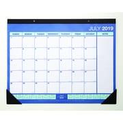 "2019-2020 17""H x 22""W Staples Desk Pad Academic Calendar, Blue (54612-19)"