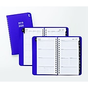 """2019-2020 Staples® 3 1/2"""" x 6 3/8"""" Pocket Academic Weekly/Monthly Planner, 14 Months, Purple (25503-19)"""
