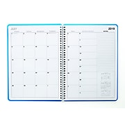 "2019-2020 Staples® 8"" x 11"" Large Academic Weekly/Monthly Appointment Book, 14 Months, Blue (25500-19)"