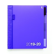 "2019-2020 Staples® 6 7/8"" x 8 3/4"" Medium Academic Weekly/Monthly Planner with Notes, 14 Months, Purple (25498-19)"