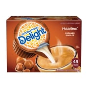 International Delight Hazelnut Liquid Creamer, 0.44 Oz., 48/Box (WWI02283)