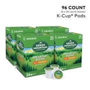 Green Mountain Breakfast Blend Coffee, Keurig® K-Cup® Pods, Decaf, Light Roast, 96/Carton (7522)