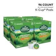Green Mountain Breakfast Blend Coffee, Keurig® K-Cup® Pods, Decaf, Light Roast, 96/Carton (7522)