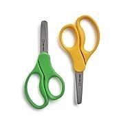 "TRU RED™ Junior 5"" Kids Blunt Tip Stainless Steel Scissors, Straight Handle, Right & Left Handed, 2/Pack (TR55055)"