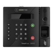 Icon Time TotalPass B600 Biometric Fingerprint Time Clock System, Black (B600)