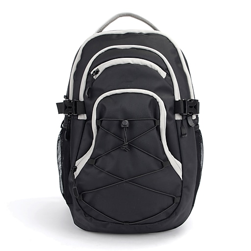 "Pembroke 18"" Backpack, Black & Grey (54944)"