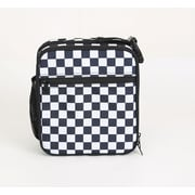 Schooled Lunch Bag, Black and White Checkers (54934)