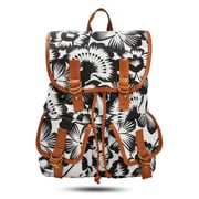 Windsor Backpack, Black and White Floral (52426)