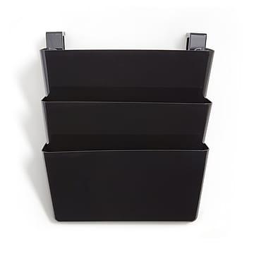TRU RED™ Unbreakable 3-Pocket Plastic Letter Wall File, Black (TR55344)
