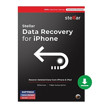 Stellar Phoenix Data Recovery for iPhone for Mac (1 User) [Download],Size: large