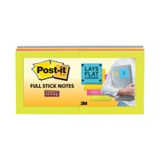 "Post-it® Super Sticky Full Stick Notes, 3"" x 3"", Rio De Janeiro Collection, 12/Pads (F330-12SSAU)"