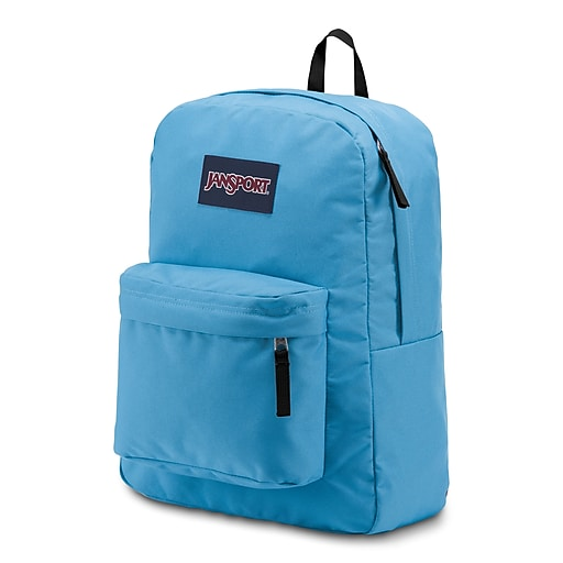 JanSport SuperBreak School Backpack, Solid, Blue (JS00T5015CS)