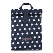 JanSport Rolltop Lunch Bag, Dark Denim Polka Dot (JS0A2UQ25U6)