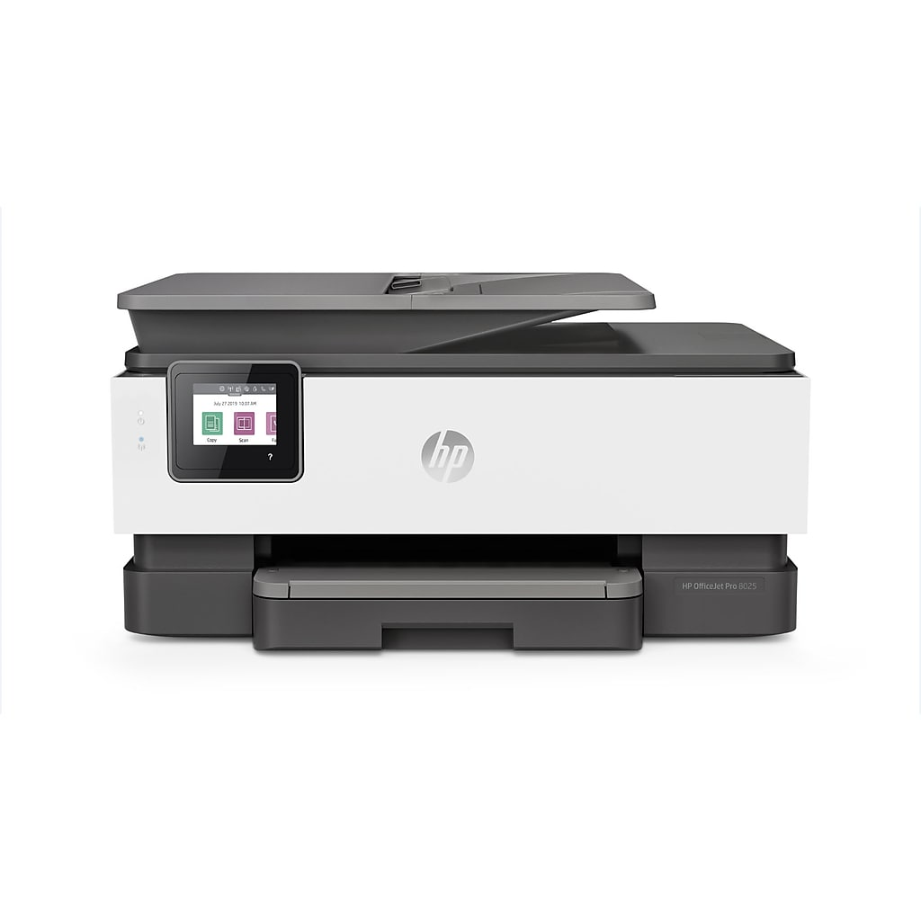 HP OfficeJet Pro 8025 Wireless Color All-In-One Inkjet Printer with Smart Tasks and HP Instant Ink, White (1KR57A#B1H)