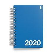 """2020 Staples 5"""" x 8"""" Daily Appointment Book, Blue (52180-20)"""