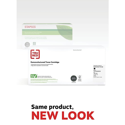 TRU RED™ Kyocera (TK-562K) Black Remanufactured Standard Yield Toner Cartridge