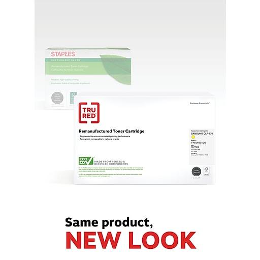 TRU RED™ Samsung CLT-Y609S (SU563A) Yellow Remanufactured Standard Yield Toner Cartridge