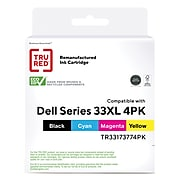 TRU RED™ Remanufactured Black/Cyan/Magenta/Yellow High Yield Ink Cartridge Replacement for Dell Series 33 (331-7377), 4/Pack