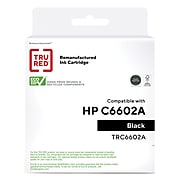 TRU RED™ Remanufactured Black Standard Yield Ink Cartridge Replacement for HP (C6602A)